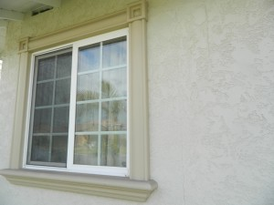 After the window casings were installed by Generations Construction