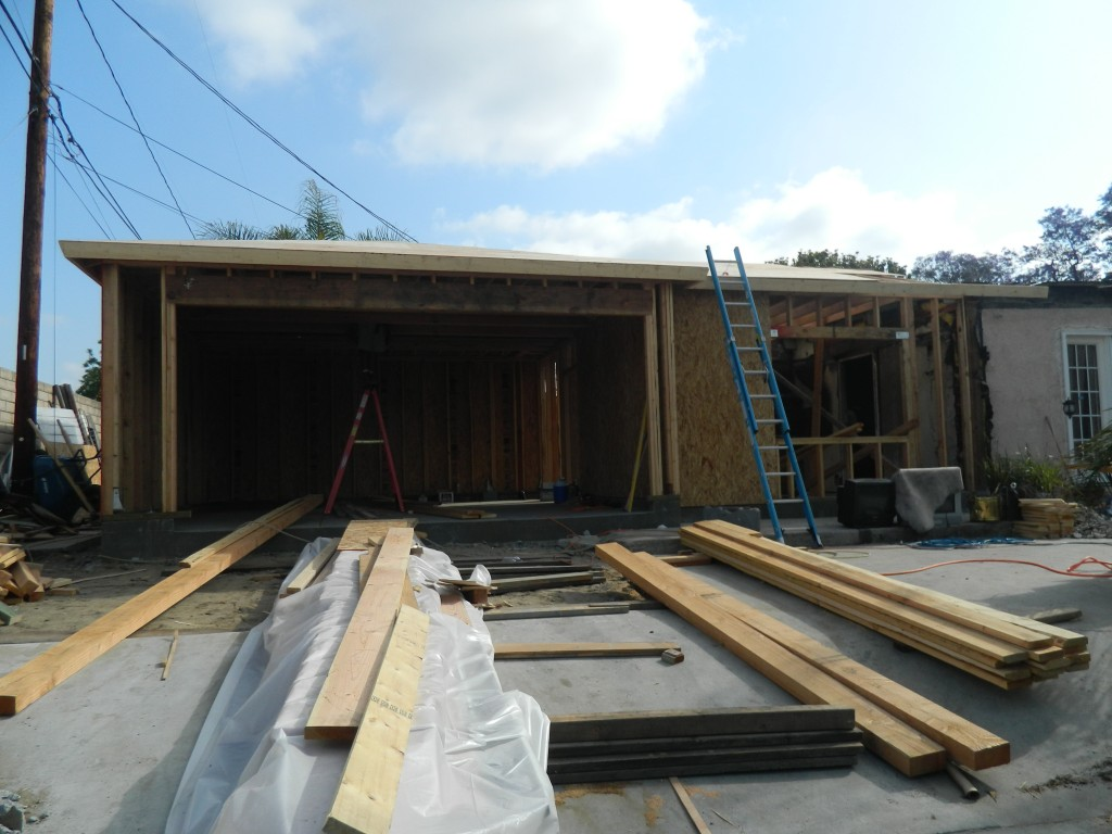 framing new addition and garage by generations construction