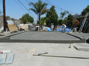 southern california laying foundation and slab